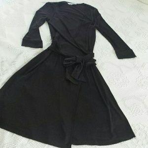 Diane von Furstenberg dark brown wrap dress